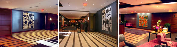 Painting Installation, The Millennium Bostonian Hotel